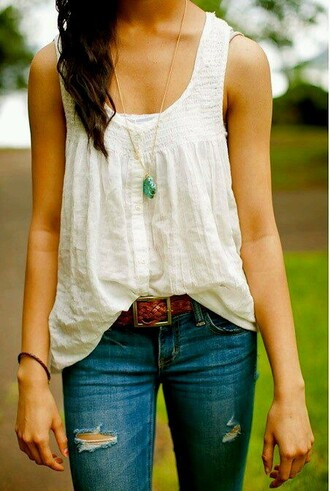shirt white top tank top tank lace lace top cute girly country