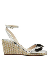 sandals,wedge sandals,silver,shoes