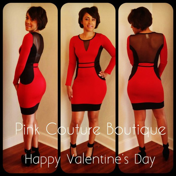 spandex dress bodycon red dress dress bodycon black mesh cutouts cute dress