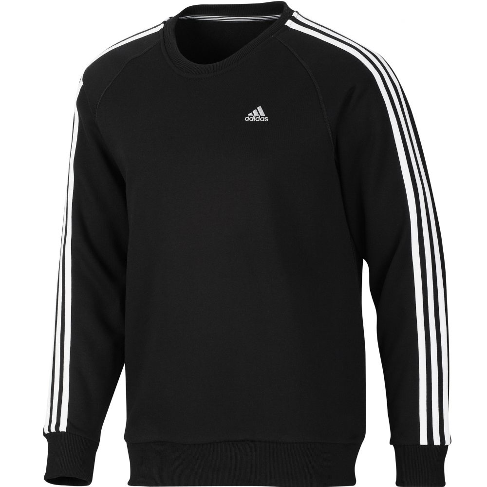 adidas ess 3s crew sweat pullover herren sweatshirt baumwolle. Black Bedroom Furniture Sets. Home Design Ideas