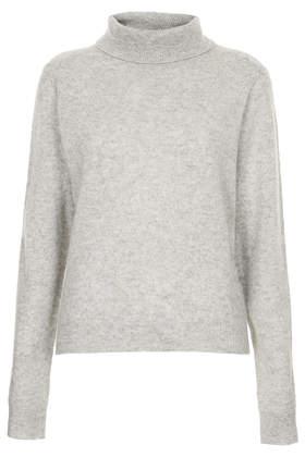 Knitted Cashmere Polo Jumper - Knitwear  - Clothing  - Topshop