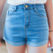Kallie high waist denim shorts · fashion struck · online store powered by storenvy