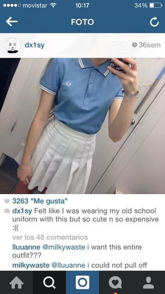 shirt polo grunge pale blue cool