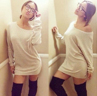 sweater dress beige dress style sweater dress off the shoulder sweater