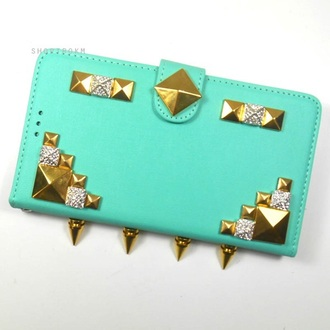 phone cover shoptrokm studs rhinestones mint diy