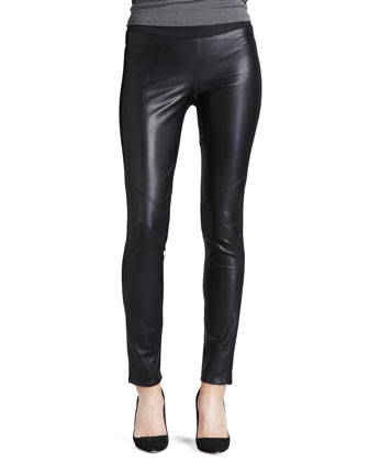 Paige Denim Paloma Mix-Fabric Leggings - Neiman Marcus