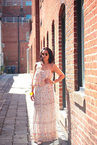 tanvii blogger shoes jewels sunglasses summer dress maxi dress
