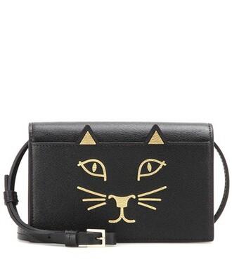 bag purse shoulder bag leather black