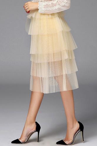 skirt midi trendy fashion style tulle skirt tutu beautiful party summer dezzal