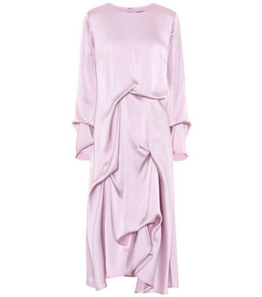 SIES MARJAN dress satin dress satin purple