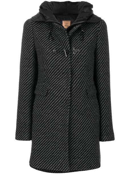 FAY coat duffle coat women black wool