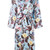 Vivetta - floral print trench coat - women - Silk - 38, Blue, Silk