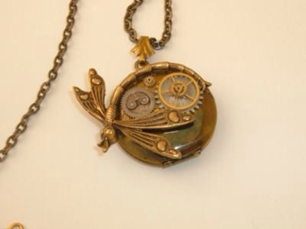jewels steampunk jewelry dragonfly necklace