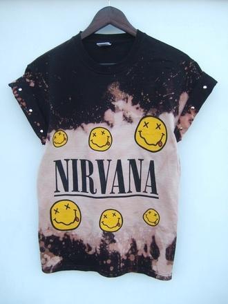 shirt nirvana t-shirt tee dope shirt swag top
