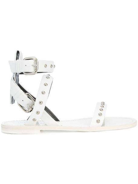 Thomas Wylde women sandals leather white shoes