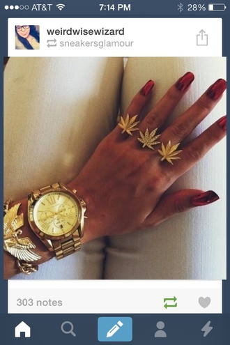bag gold gold ring weed weed ring jewelry jewels