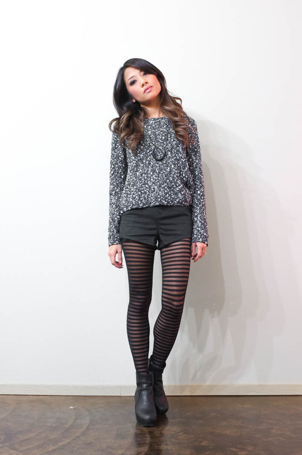 phi style sweater shorts shoes