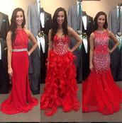 dress,red,sparkle,silver,prom dress,long prom dress