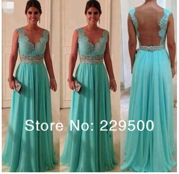 Sweetheart Lace Top Green Crystal A Line Floor Length Chiffon Long Prom Dress Evening Dresses-in Evening Dresses from Apparel & Accessories on Aliexpress.com