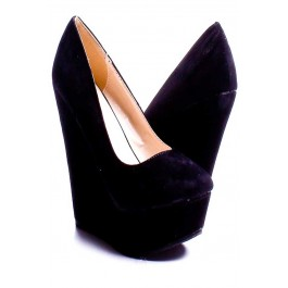 Cheap Black Wedge Heels