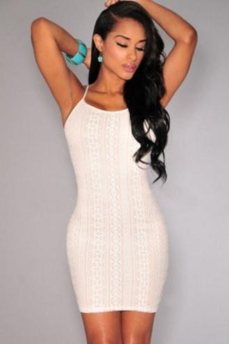 dress mini sexy wots-hot-right-now white mini dress nude illusion insert white crochet crochet sleeveless
