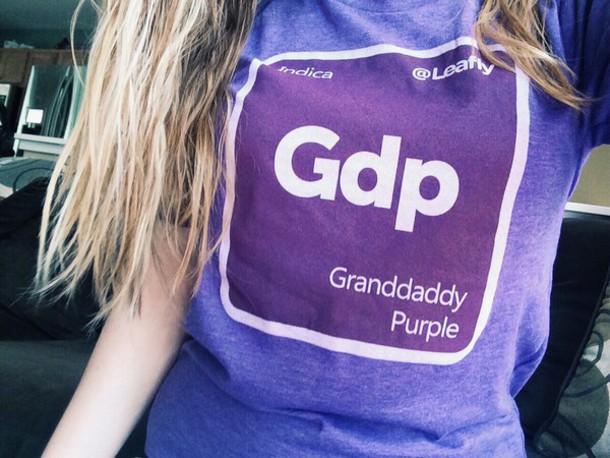 purple t-shirt shirt