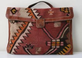 bag clutch aztec vintage pattern native american