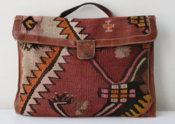 pattern aztec native american bag clutch vintage