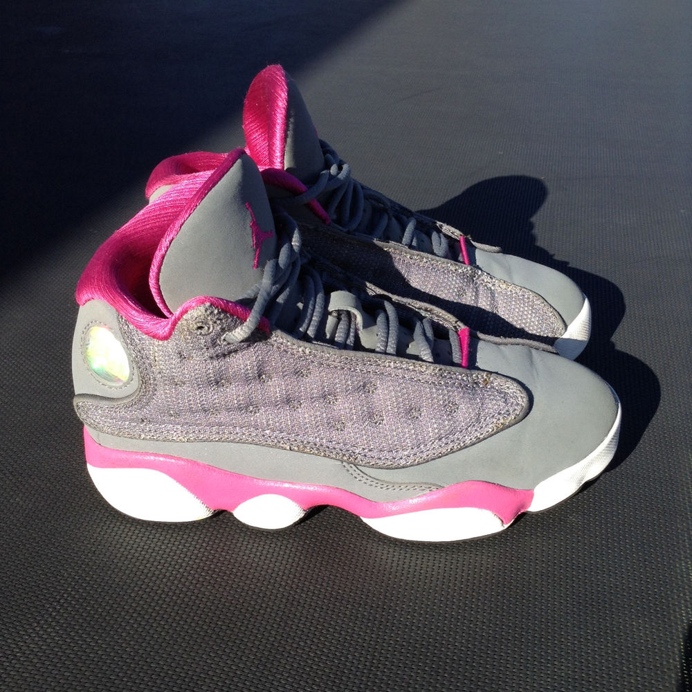 Air Jordan 13 XIII Retro Women Shoes Grey Pink