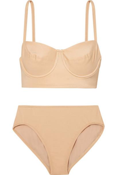 Norma Kamali bikini beige swimwear