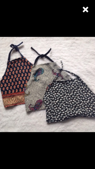 top halter top crop tops boho bohemian tumblr cute