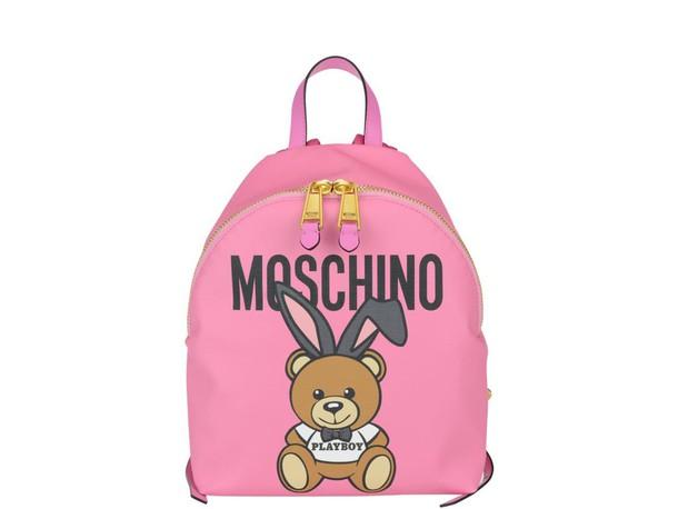 Moschino bear backpack pink bag