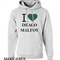 I love draco malfoy hoodie unisex adult size s - 2xl