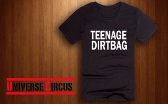 shirt one direction teenage dirtbag celebrity t-shirt 1d song band merch album cover clothes top