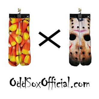 socks candy corn candy corn socks new dope socks horror horror costumes horror halloween costumes halloween costume halloween accessory halloween party odd sox stand out be odd trendy candy candy color halloween candy fashion style dope dope shit