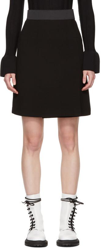 miniskirt black wool skirt