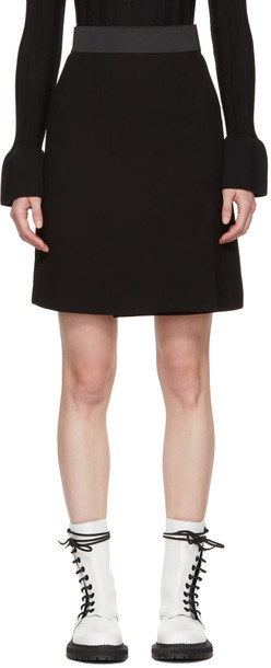 Dolce and Gabbana miniskirt black wool skirt