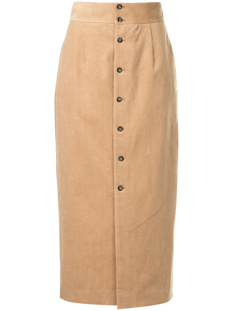 Cityshop skirt high women cotton brown