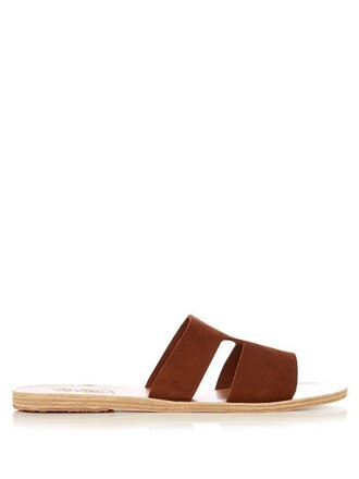 sandals suede brown shoes