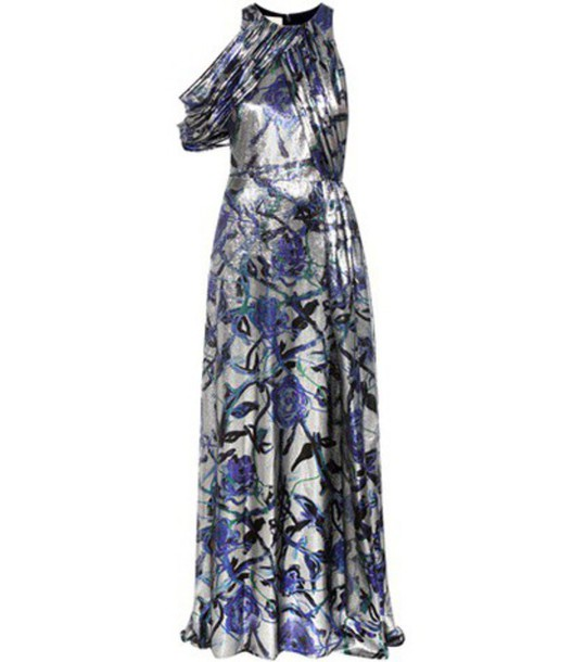 CHRISTOPHER KANE gown metallic silk dress