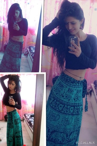 skirt green skirt black skirt style india love indian