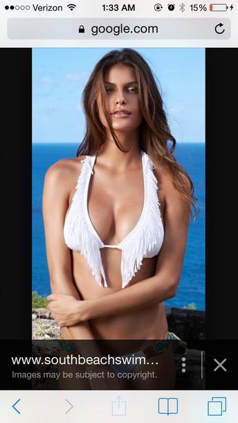 swimwear white despi bikini