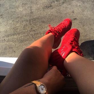 shoes red shoes red air jordan jordans nike air baddies black girls killin it red sneakers high tops sneakers
