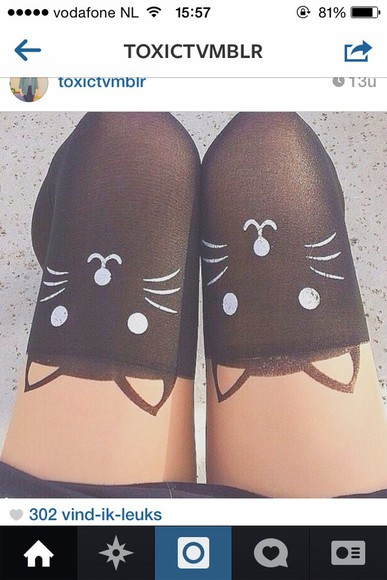 leggings stockings kitten cats socks kittens