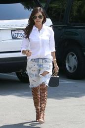 pants,kourtney kardashian,shoes