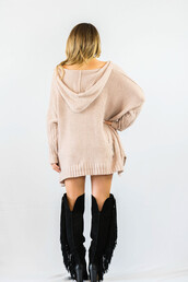 sweater,pink,hoodie,fashion,style,trendy,nude,fall outfits,oversized cardigan,freevibrationz