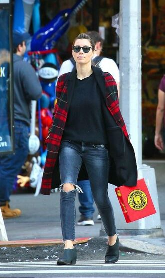 jacket fall coat jessica biel streetstyle fall outfits