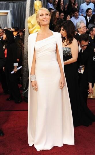 dress calvin klein dress calvin klein white dress maxi dress red carpet dress gwyneth paltrow celebrity celebrities in white