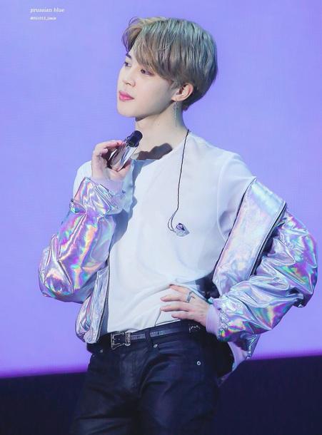 jacket jimin bts jimin bts K-pop kpop tshirt holographic holographic jacket bomber jacket metallic jimin bts