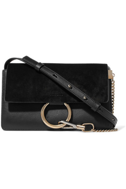 Chloe bag shoulder bag leather suede black